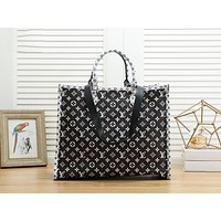 LV Louis Vuitton Fashion Women Shopping Bag Leather Handbag Crossbody Satchel Shoulder Bag Black