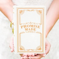 """""""A Promise Made"""" Vintage Inspired Jewelry Book Box"""