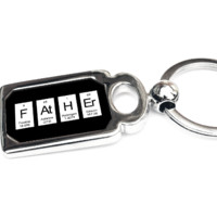 Father Keyring - Periodic Table of Elements Spelling Father - Geeky Father's Day Gift