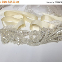Bridal sash, wedding sash, bridesmaid sash, pearl sash, Ivory sash, ribbon sash, ivory bridal sash, bridal belt, bridal accessory