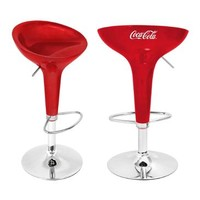 Lumisource Coca-Cola Scooper Bar Stool In Red And White