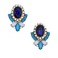 Modern Day Marie Antoinette Studs in Blue