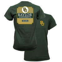 Southern Couture University of Baylor Bears Classic Preppy Girlie Bright T Shirt