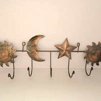 Copper Wall Hooks 1990's Planetary Metal Hook by Trinkets4Muses