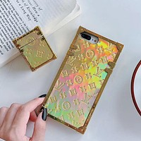 Louis Vuitton LV iPhone Apple 12pro mobile phone case XSMax all-inclusive 78P couple XR glossy net red discoloration presbyopia