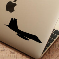 """Fighter Jet Sticker Decal MacBook Pro Air 13"""" 15"""" 17""""  Laptop Decal F15 Fighting Eagle Decal Sticker Silhouette Sticker Car Truck Decal"""