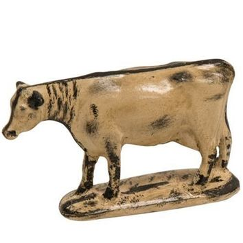 Lil' Rustic-Style Holstein Cow Figure