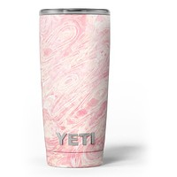 Pink Slate Marble Surface V42 - Skin Decal Vinyl Wrap Kit compatible with the Yeti Rambler Cooler Tumbler Cups
