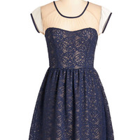 Mid-length Short Sleeves Fit & Flare Sweet Dream Date Dress