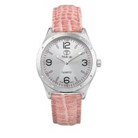 Ladies Watch Korean Stylish Fashion Couple Noctilucent Waterproof Red Quartz Watch(with Gift Box) [9857414863]