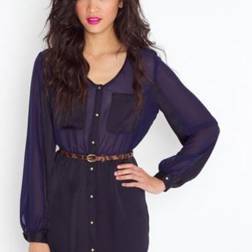 Black 'n Blue Shirtdress in  Clothes Dresses Day at Nasty Gal