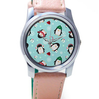 Happy penguins Pattern Wrist Watch