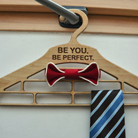 Personalized Wood Hanger for Tie, Bow Tie, Scarf, Gift for Him, Rack Organizer, 5th Wedding Anniversary, Wedding or Thanksgiving Gift