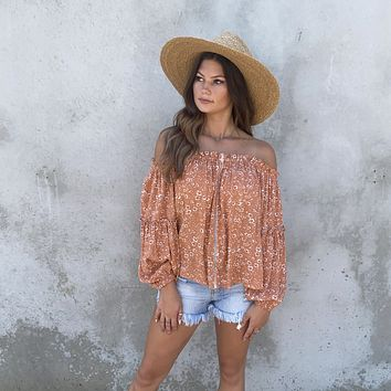 Stay In Touch Floral Off Shoulder Blouse