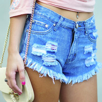 Torn And Tangled High Waisted Shorts | Hope's