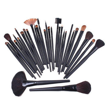 32Pcs Professional Makeup Brushes make up Cosmetic Brush Set Kit Tool + Roll Up Case