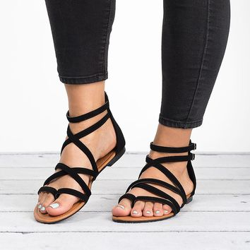 Casey Strappy Flat Sandals