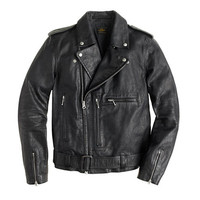 J.Crew Mens Italian Leather Studded Motorcycle Jacket