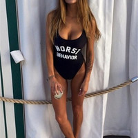 Worst Behavior Fashion Summer Sexy Slim Bodycon Swimsuit Bathing Suit Bikini Beach wear Sunshine  = 4769184388