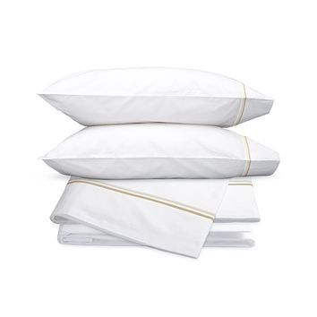 Essex Champagne Embroidered Hotel Sheet Set by Matouk