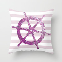GLITTER HELM IN PINK Throw Pillow by colorstudio