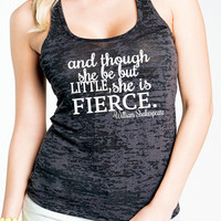 She Be But Little She is Fierce Womens Gym Tank Top. Womens Yoga Tank Top. Workout Burnout Tank. Womens Gym Tank Clothing. Workout Clothes.