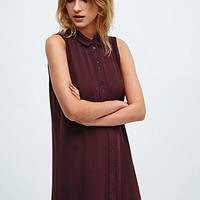 Cooperative Shirt Dress in Burgundy - Urban Outfitters