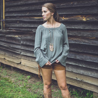 Feeling Free Top in Olive