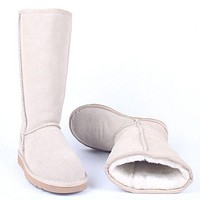"""UGG"" Women male Fashion Wool Snow Boots White F"