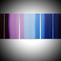 "ARTFINDER: triptych 3 panel wall art colorful images ""Purple Haze"" 3 panel canvas wall abstract canvas pop abstraction 60 x 28"" by Stuart Wright - ""Purple Haze""