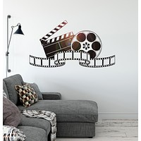 Vinyl Wall Decal Filming Art Cinema Film Movie Stickers Mural Unique Gift (ig4642)