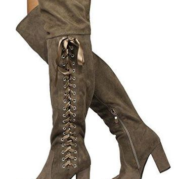 DREAM PAIRS over the knee women's boots  Thigh High Boots Size 6 M US