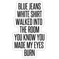 Blue Jeans Lana Del Rey Tee (black text)