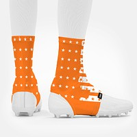 Disrupted USA Flag Orange Spats / Cleat Covers