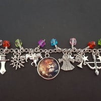 Narnia The lion the witch and the wardrobe inspired charm bracelet