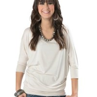 Karlie® Women's Sand 3/4 Dolman Sleeve Top