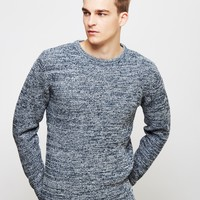 The Idle Man Crew Neck Knit Jumper Navy