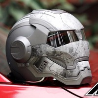 Masei 610 Star Machine DOT Helmet Ironman Iron Man Atomic Man Motorcycle Helmets Open Face Ironman Star Wars Grey Warrior Matt L