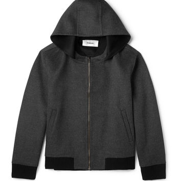 Chalayan - Hooded Wool and Angora-Blend Bomber Jacket | MR PORTER