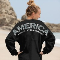 America, Home of the Brave - Digital Camo Preppy Print Spirit Football Jersey®
