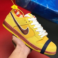 Nike Dunk SB Low Lobster Series Fashion Men Leather Sport Running Shoes Sneakers Yellow