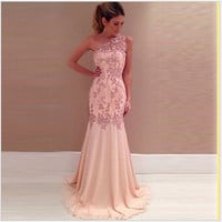 Summer Lace Ball Gown Dress One Piece Dress [4919726020]