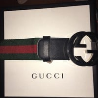 Gucci Belt men size 32/ Red And Green