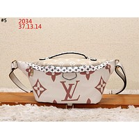 LV 2019 new women's printed letter canvas chest bag shoulder bag #5