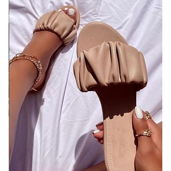 2020 new women's flat sandals slippers shoes