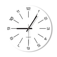 Wall Clock black and white clock home decoration wall art modern simple clock bedroom living room office clock white clock