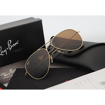 Aviator Sunglass Gold with Brown Gradient Lenses RB 3025 001/51