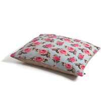 Allyson Johnson Pink Roses Pet Bed