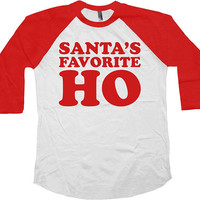 Funny Christmas T Shirt Holiday Raglan TShirt Xmas Gift Ideas For Her Christmas Outfit Xmas Present Holiday Clothes Baseball Tee - SA863