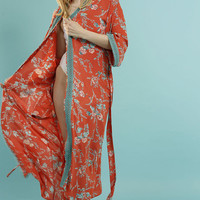 Moulin Rouge Long Kimono in Organic Bamboo